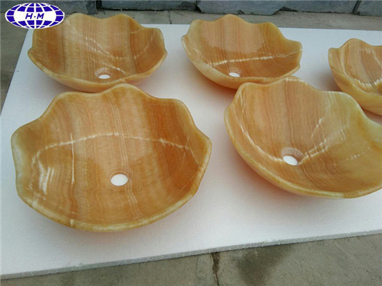 Beige Yellow Onyx Sink