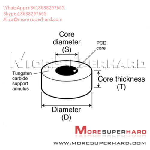 Tungsten Carbide Supported Diamond Die Blanks used to wire drawing  Alisa@moresuperhard.com