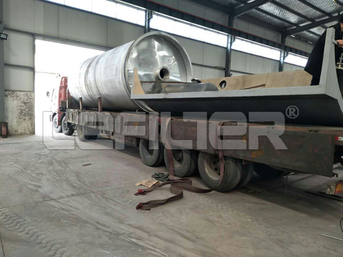 Henan New waste Tyre Rubber raw material pyrolysis machinery