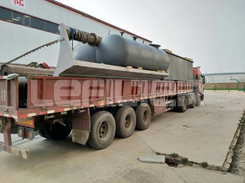 Rubber raw materials waste tire pyrolysis machine for oil