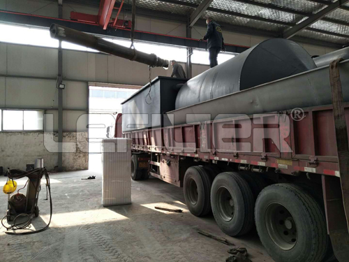 tyre pyrolysis machine/ high capability waste tire recycling oil machine