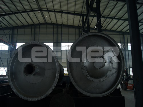 Recycling for waste tyre to high out fuel oil pyrolysis machine