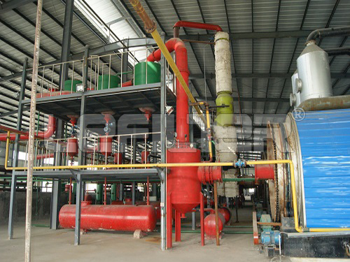 China latest technology used tire pyrolysis machine to diesel