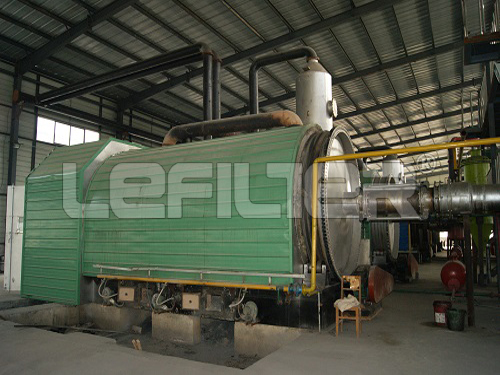 Newest TECH waste tyre pyrolysis machine for oil with high output