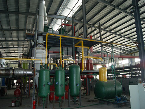 tire pyrolysis machine in China waste tire to oil production line