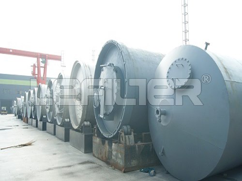 waste tyre pyrolysis reactor in China with ISO