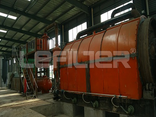 Raw materials waste rubber tyre pyrolysis machine