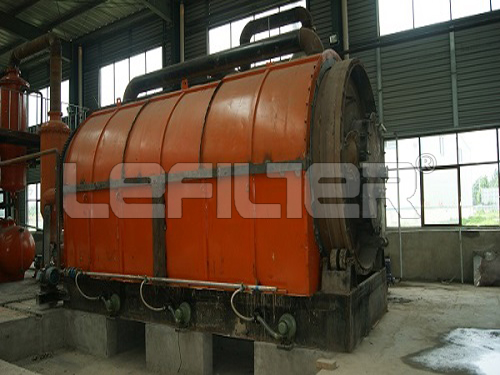 Selected Materials Waste Tire Building To Oil Pyrolysis Machine