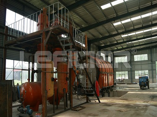 automatic waste tyre pyrolysis oil machine