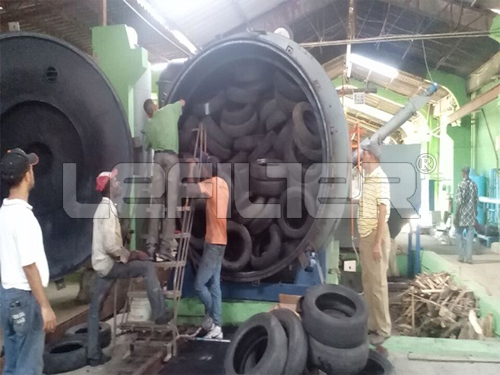 Zero emission Tyre plastic recycling to diesel making machinery