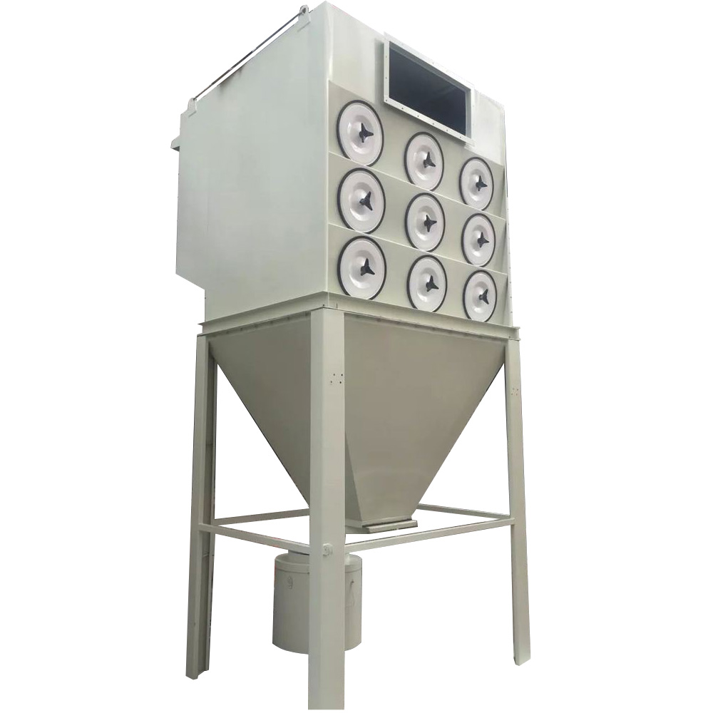 Pulse Cartridge Filter Type Dust Collector For Grinding Machine