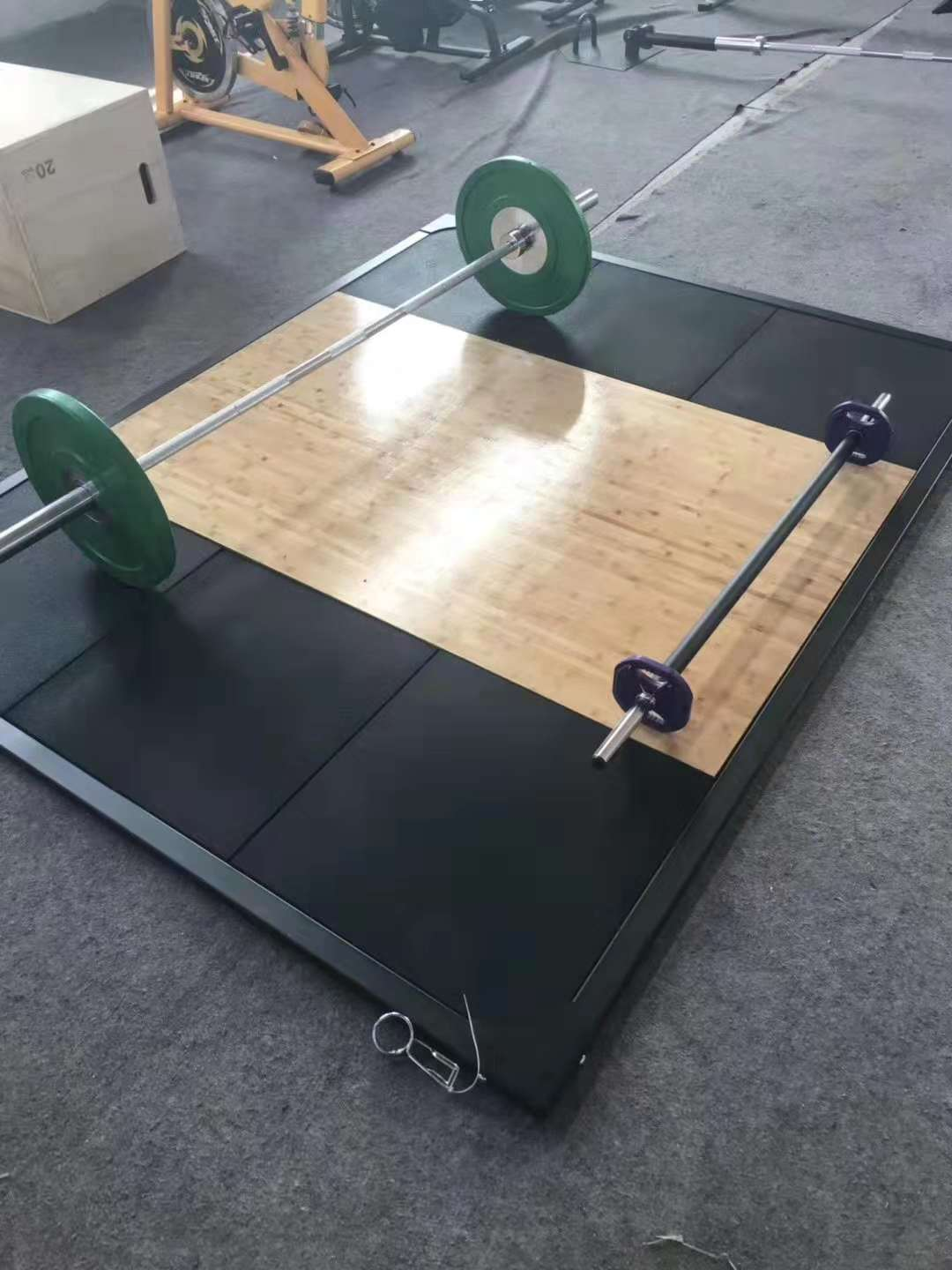 Rubber Wooden Weightlifting Platform For Sale