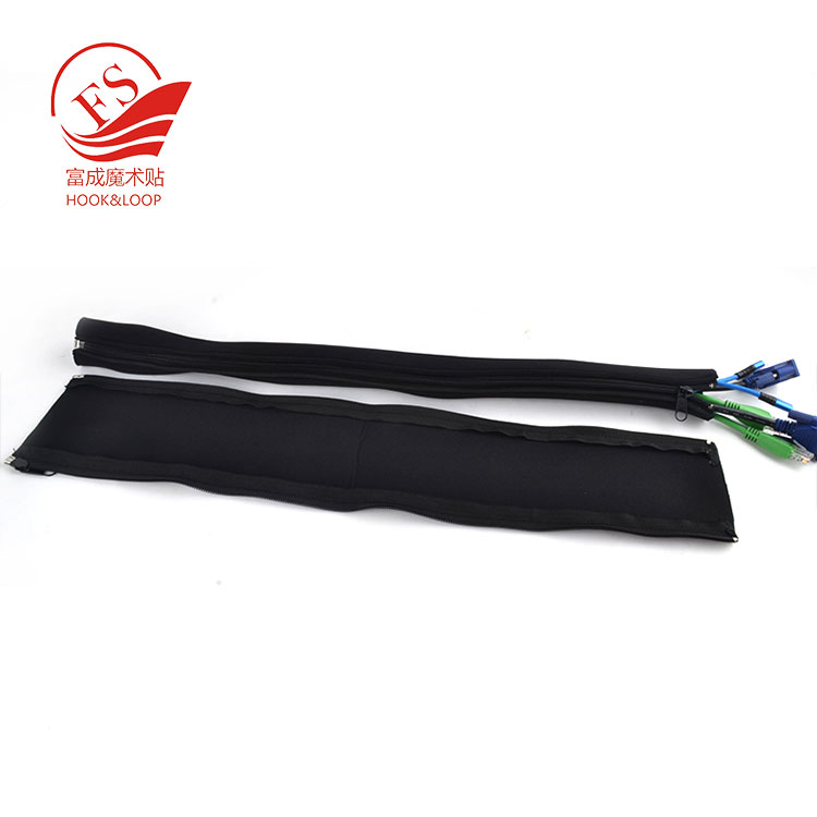 Flexible Neoprene zipper Cable Sleeve Wrap