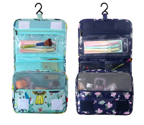 China cosmetic bag factory printing waterproof large capacity wash bag storage bag