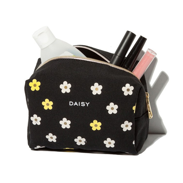 cosmetic bag manufacturer canvas daisy bag makeup bag cosmetic promotional bag