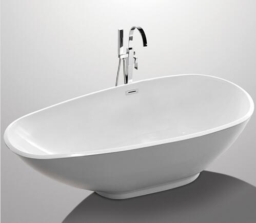 1900mm Freestanding Pedestal Tub , American Standard Freestanding Tub With Faucet YX-763