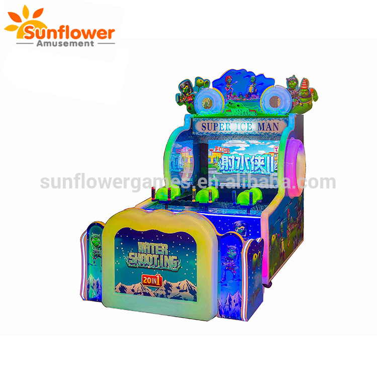 2 3 Players super ice man ii water shooting game machine