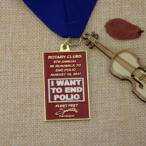9th Annual Rotary Clubs Custom medals