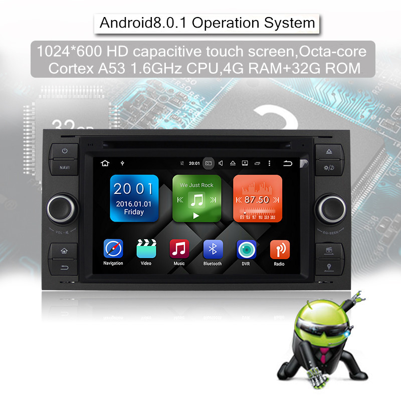 Android 8.0 Octa-core 4 GB RAM 32GB Car DVD Für FORD