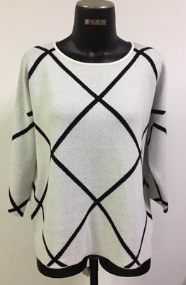 China fashion unique warm ladies diamond pattern knit of pullover supplier