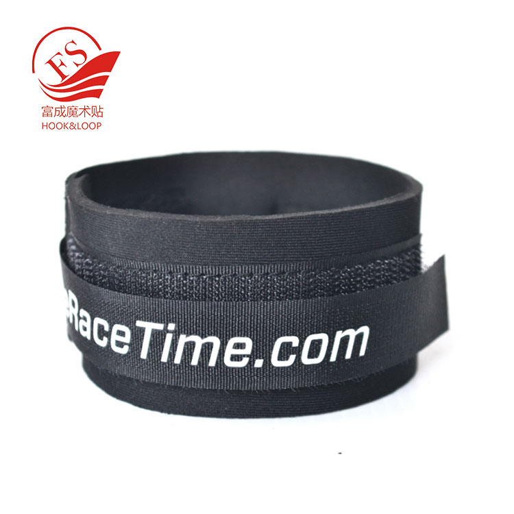 Adjustable plastic buckle soft ankle timing tag straps for chip timing