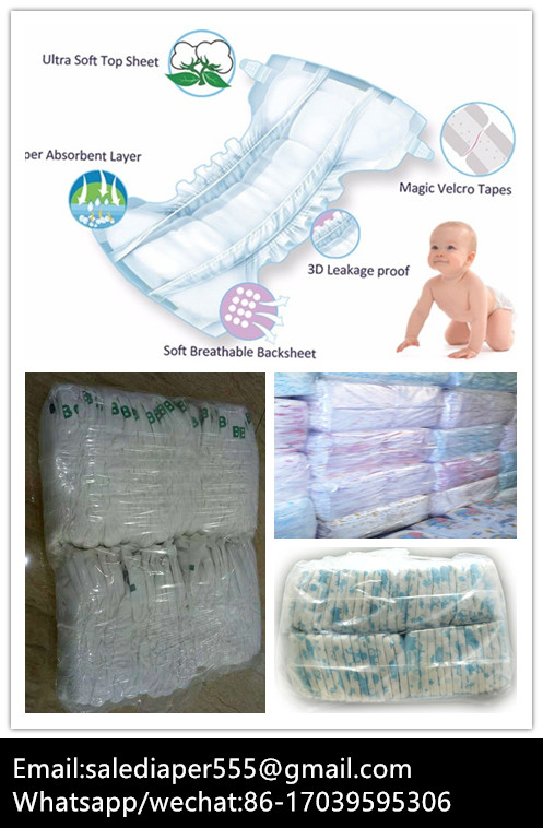 B grade baby diapers in bales