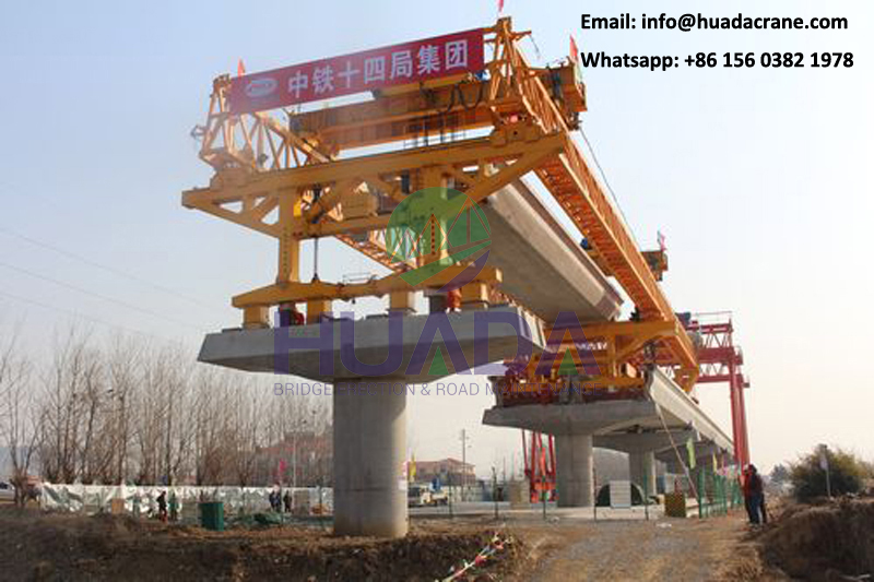 Light rail transit project 300t erection girder u beam beam launcher installation equipment machine for lrt