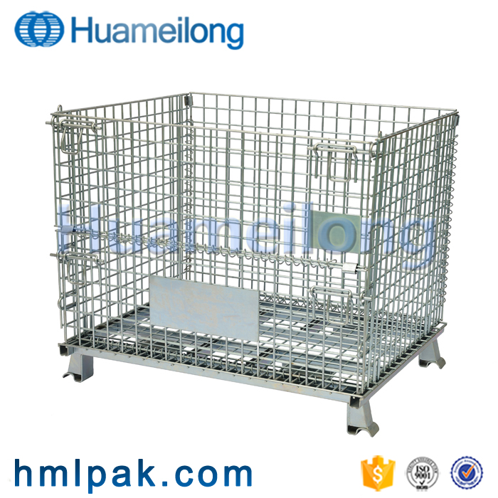 warehouse collapsible large metal good price metal wire mesh container for sale