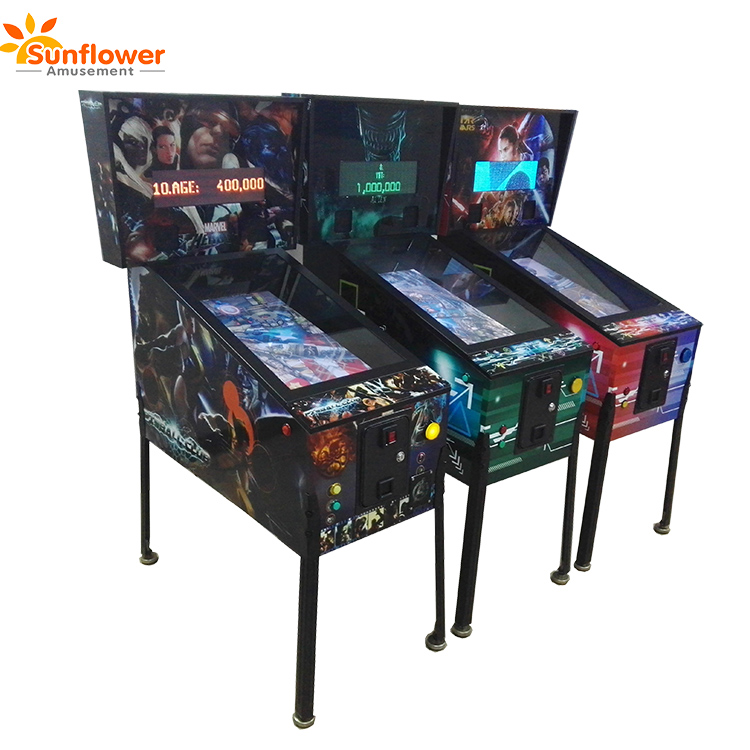 Electronic arcade virtual pinball machine