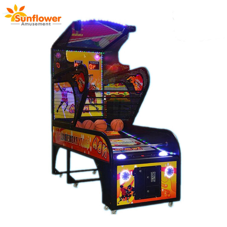 Adults color basketball game machine,basketball indoor arcade photo