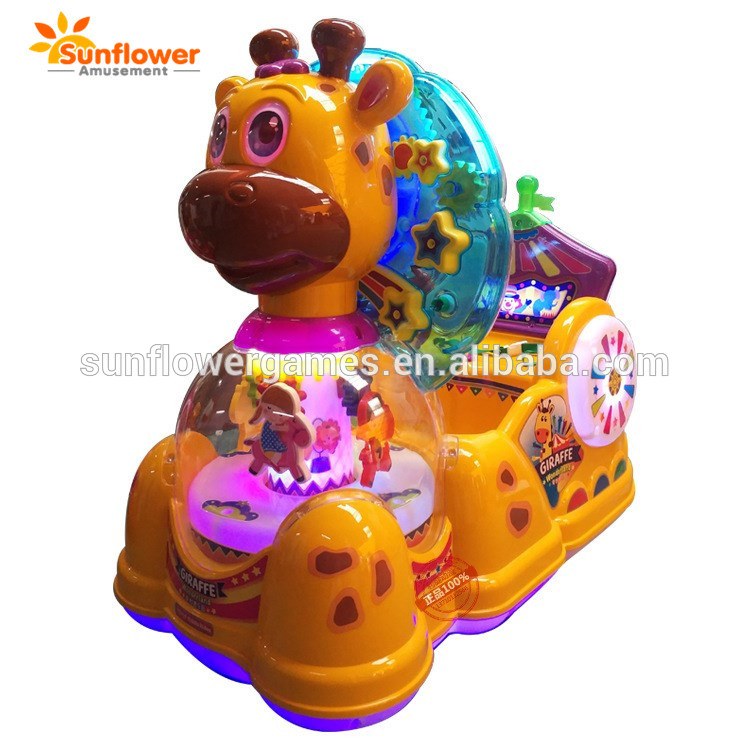Cheap plastic kiddie ride happy deer music video kids ride swing games for small kids