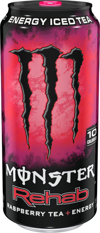 Monster Rehab Raspberry Tea+Energy Energy Drinks