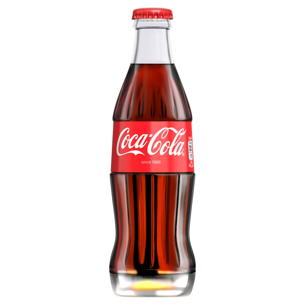 Original Coca Cola 24x 330ml Icon Glass Bottles