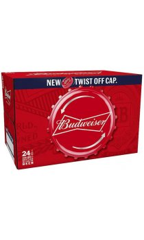 Budweiser Lager Beer 24x 330ml Bottles