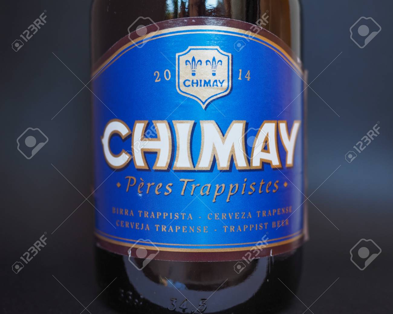 CHIMAY BLUE LAGER BEER