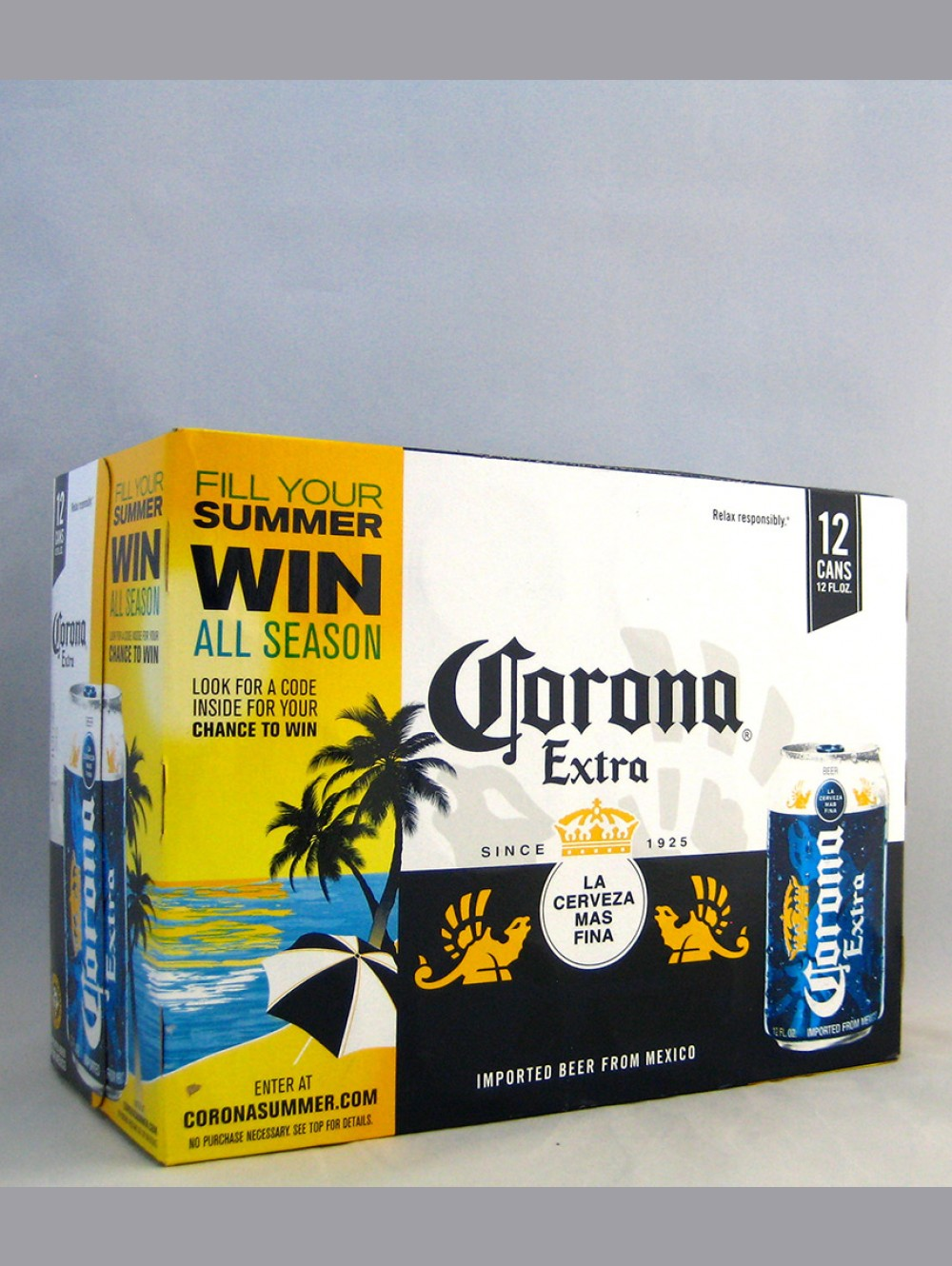 CORONA EXTRA LAGER BEER CANS
