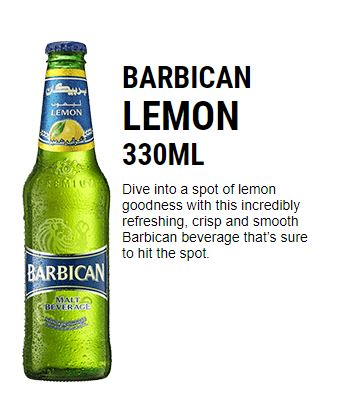 Barbican-LEMON Hot Drink