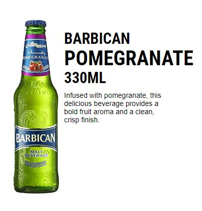 Barbican Pomegranate Malt Beverage 4 x 6 x 330 ml