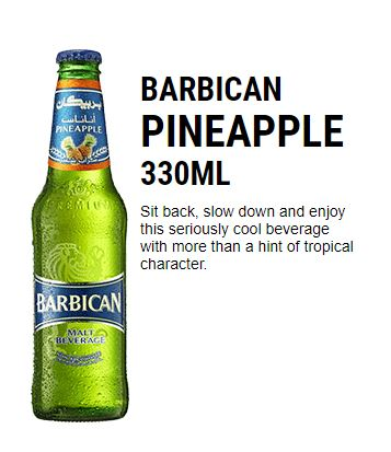 Barbican PINEAPPLE DRINKS 330ML BOTTLE