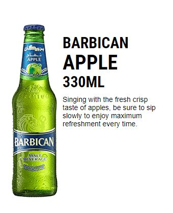 Apple Flavour Barbican Non Alcoholic Drink 330ml