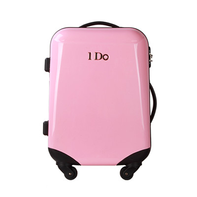 hot selling Cabine size classic series ABS and PC travel luggage with leather strap and plastic corner protection