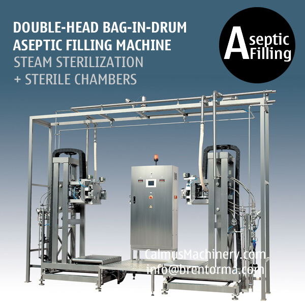 Double-head 220L BIB Aseptic Filling System Bag in Drum Aseptic Filler