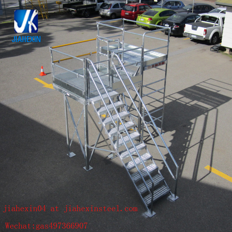 Structural steel fabrication prefabricated steel staircase working platform