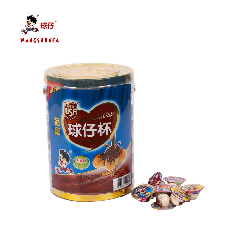 Children like yummy milky snack Mini Chocolate Cup With Biscuit Ball manufacture
