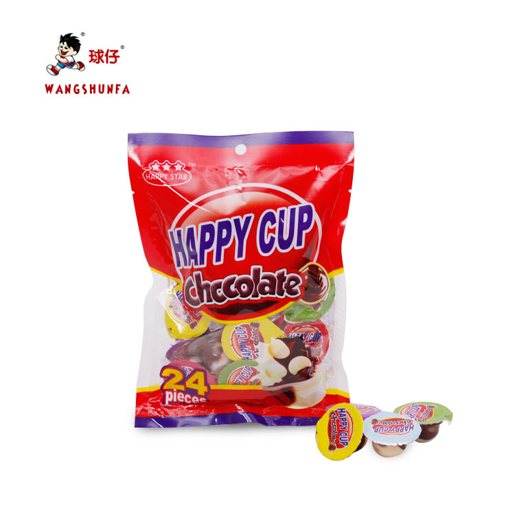 China High quality hot selling yummy mini chocolate cup with biscuit ball  wholesale