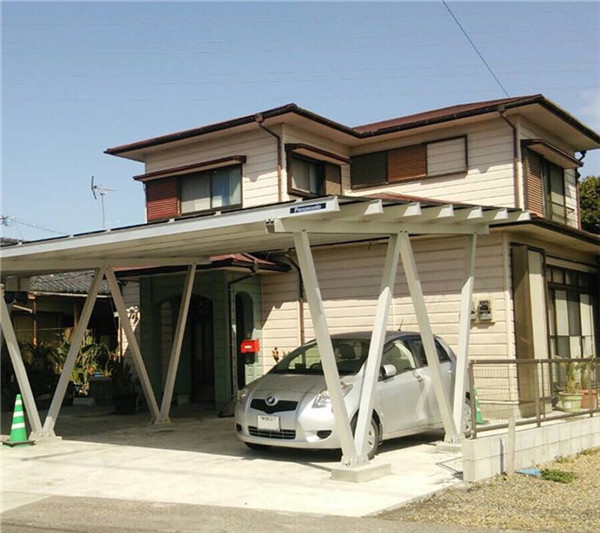 Good quality waterproof Aluminum PV carport system concrete foundation  500KW