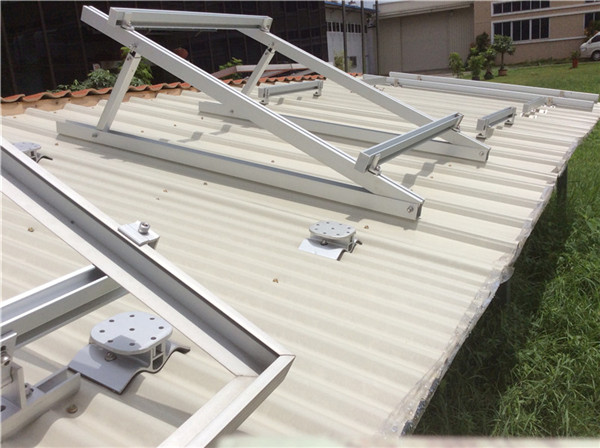 Adjustable Roof Solar Mounting System flat roof project- China manufacturer