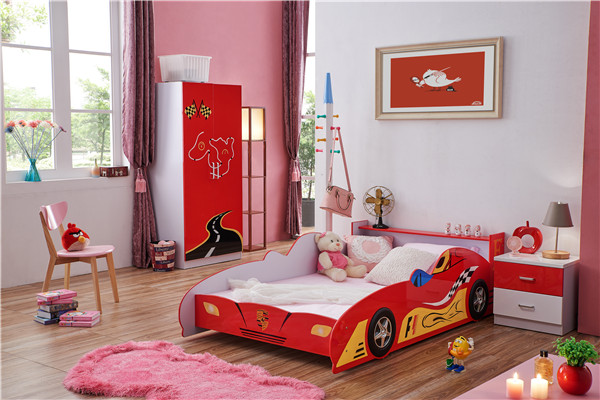 F1 MDF eco-friendly cheap kids car bed