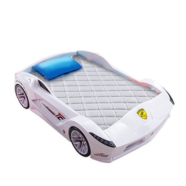 TC200 latest plastic material red race car bed