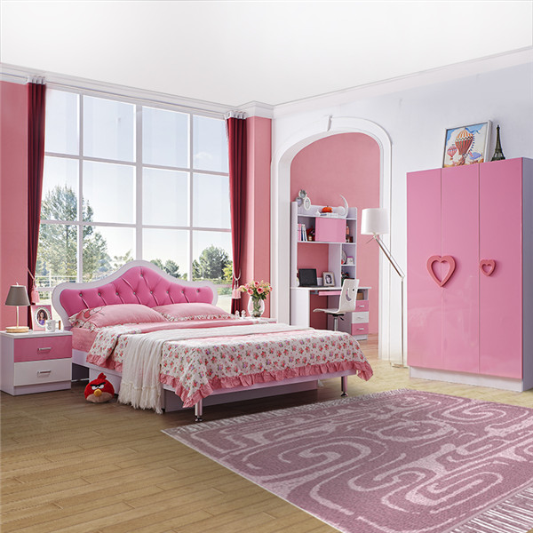 8101B romantic children bedroom furniture sets for promotion